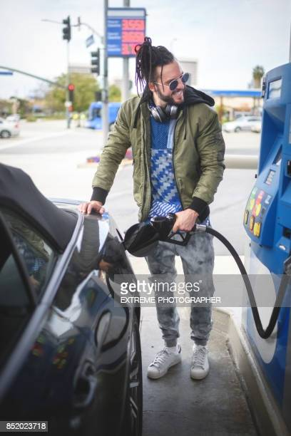 Man at the gas station