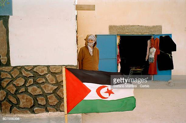 A man at the market in the Saharawi refugee camp Smara on Febraury 15 2012 in Tindouf Algeria