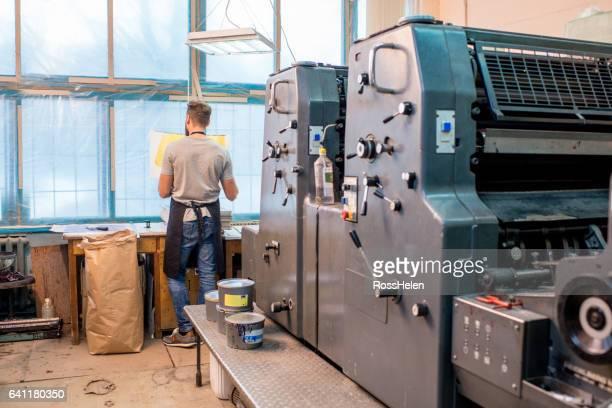 Man at the old printing plant