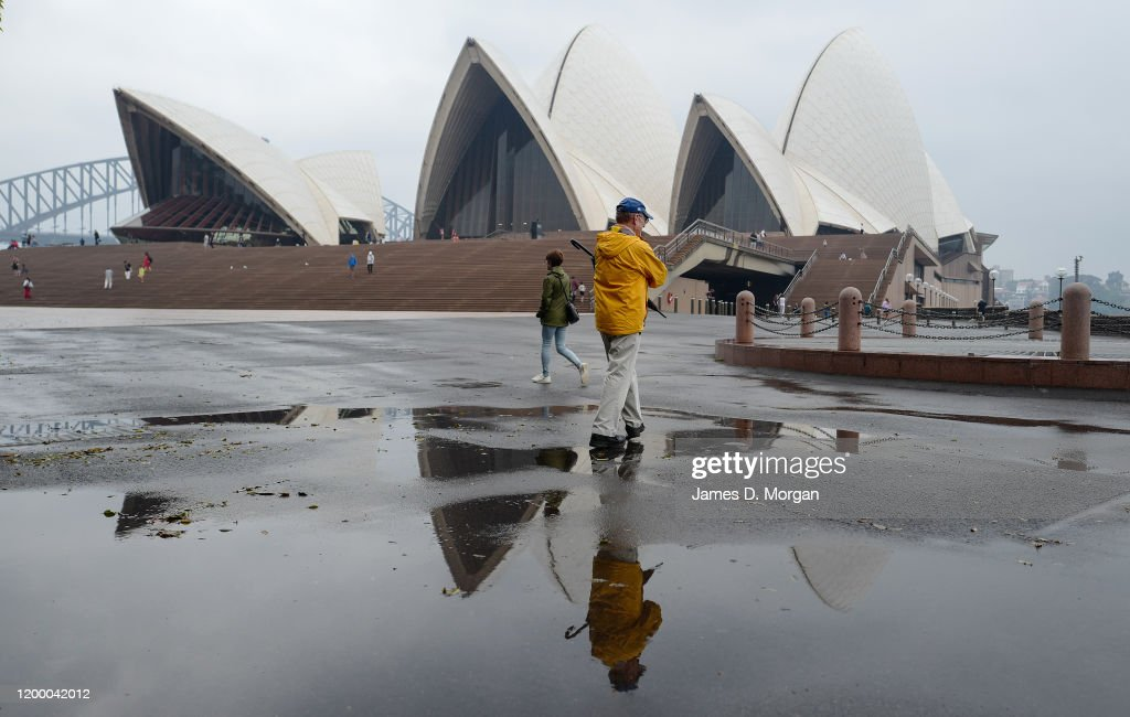 Rain Brings Wettest Day To Sydney In Months Following Drought And Bushfires : News Photo