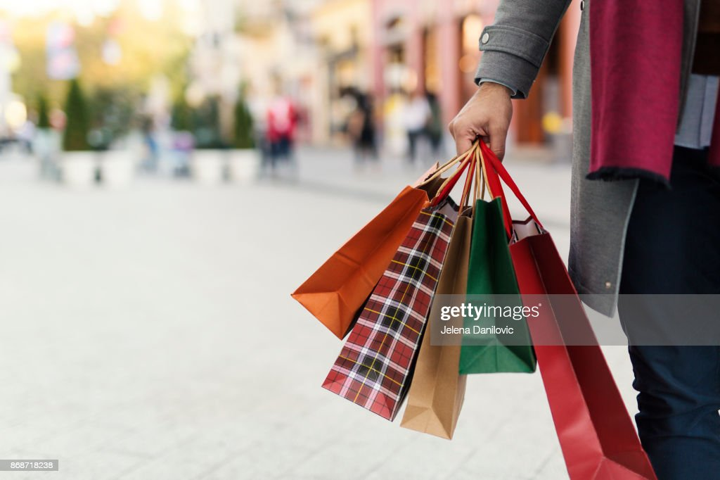 Man at the shopping : Stock Photo