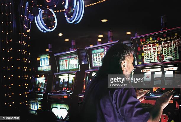 Man at the slots