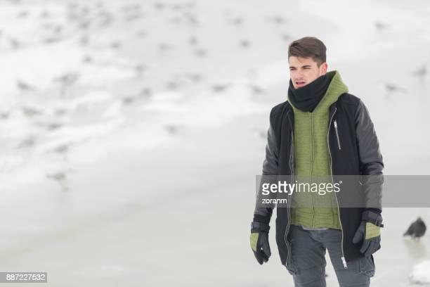 Man at winter