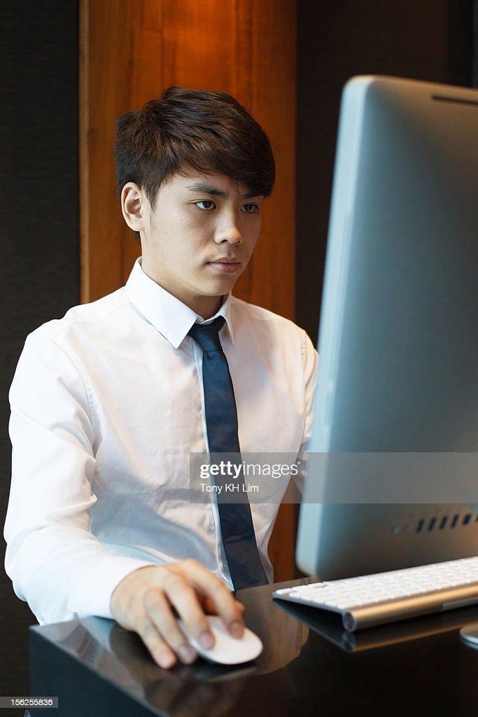Man at Work : Foto de stock