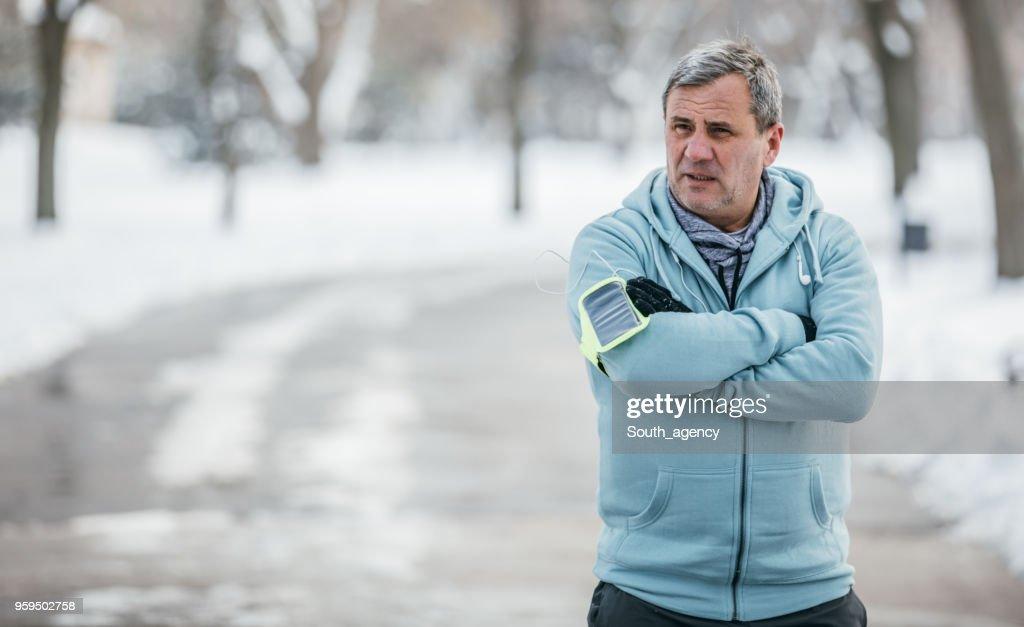 Mann-Athlet im öffentlichen park : Stock-Foto