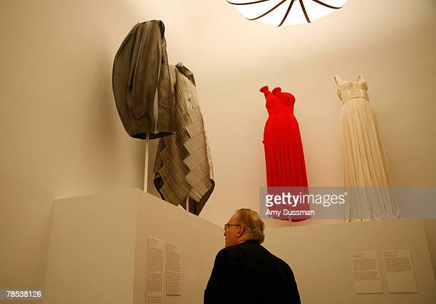A man attends the Blogmode addressing fashion exhibit at the Metropolitan Museum of Art's Costume Institute on December 17 2007 in New York City