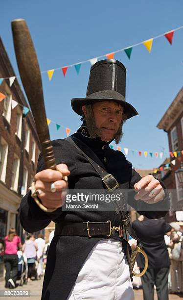 A man attired in a Victorian policeman's costume takes part in the 31st Summer Dickens Festival which celebrates Charles Dickens links with Medway on...