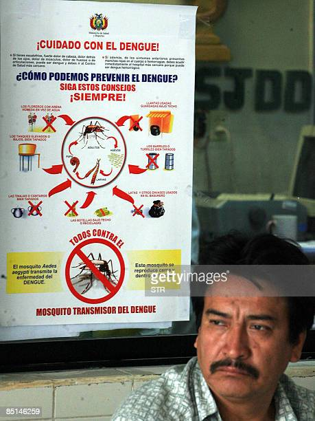 A man awaits to be seen at the Hospital Japones in Santa Cruz eastern Bolivia on February 27 2009 In Bolivia's worst national outbreak in a decade 19...