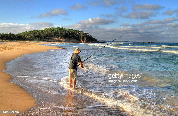 Man beach fishing