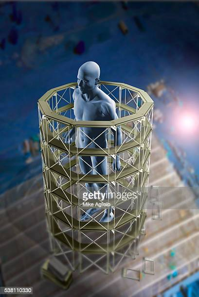 man being repaired - mike agliolo stock pictures, royalty-free photos & images