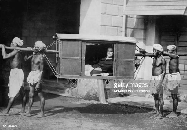 Man Being Transported in Palanquin, India, Bain News Service, 1922.