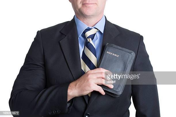 Mann Bibel mit Herz