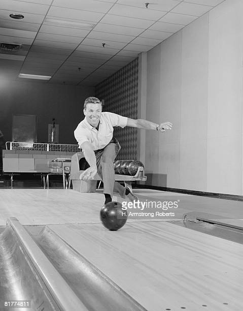 Man bowling.