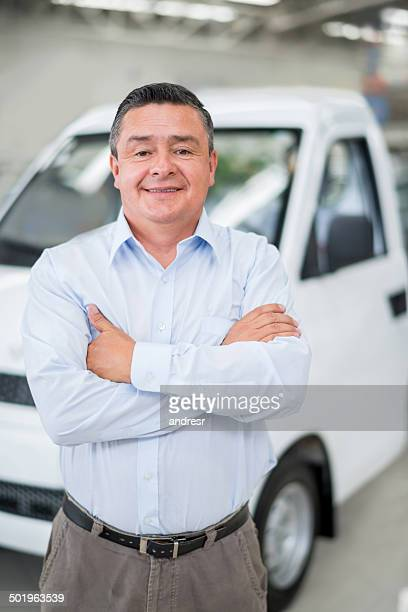 Man buying a small truck