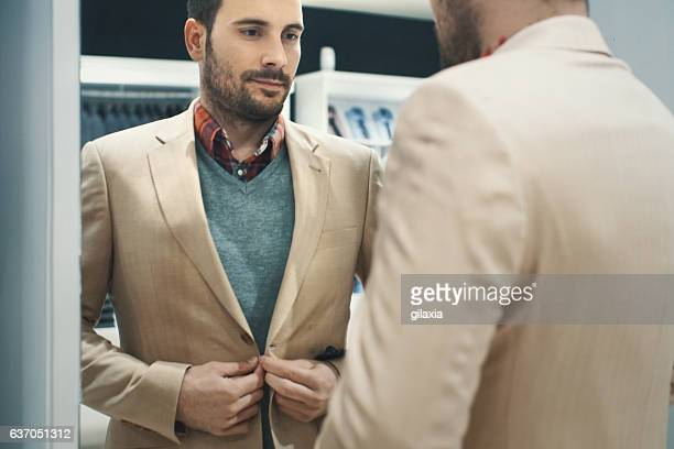 Man buying some clothes.