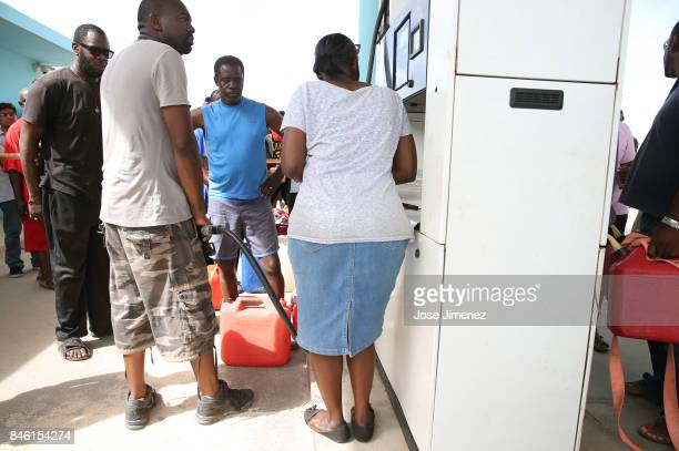A man buys the permitted 20 Euros of gas days after this Caribbean island sustained extensive damage after the passing of Hurricane Irma on September...
