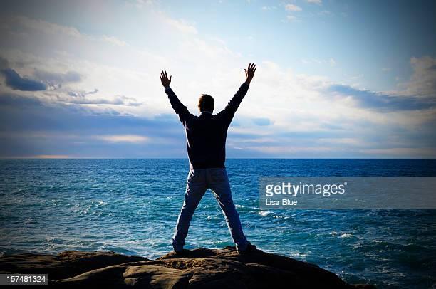 マン海を誇るスカイ - 可能性 ストックフォトと画像