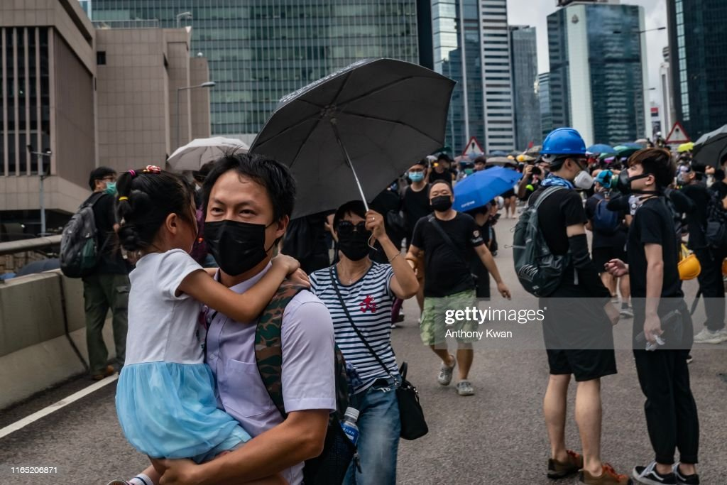 Unrest In Hong Kong During Anti-Government Protests : News Photo