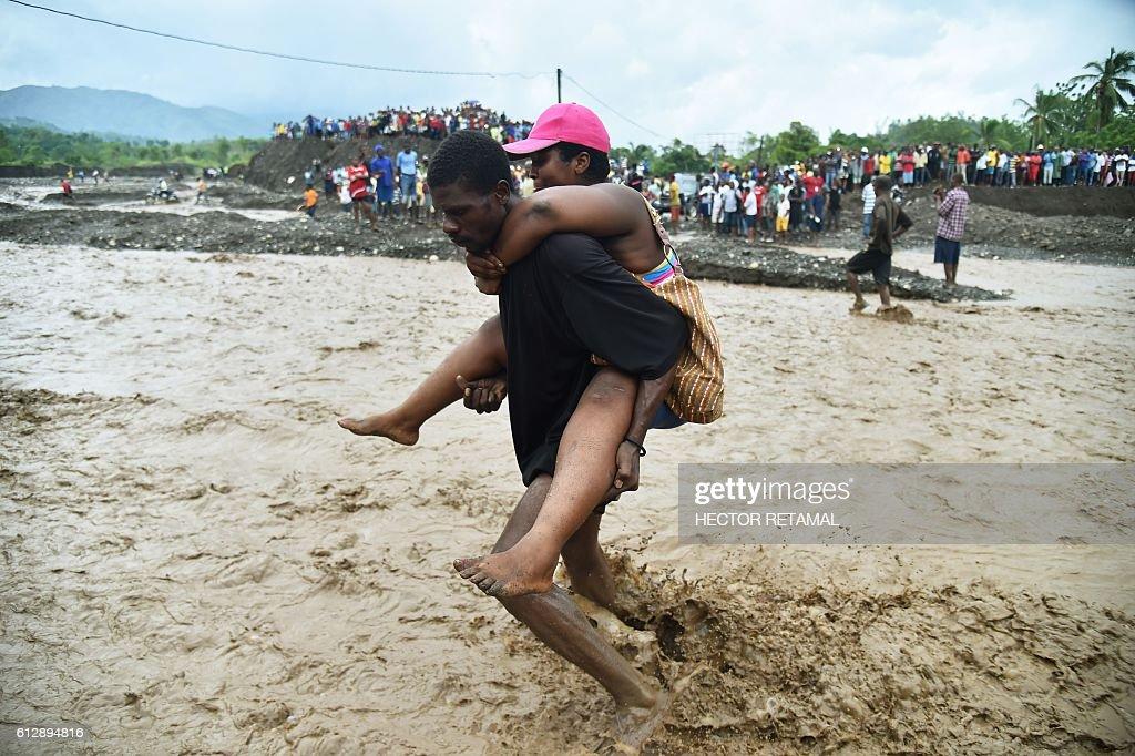 HAITI-WEATHER-HURRICANE MATTHEW : News Photo