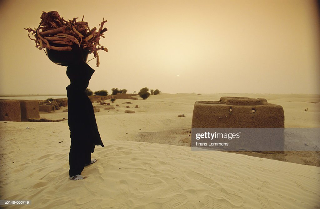 Man Carrying Firewood : Foto de stock