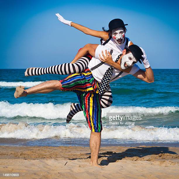 man carrying girl - stockings no shoes stock pictures, royalty-free photos & images