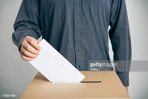 man casting his vote