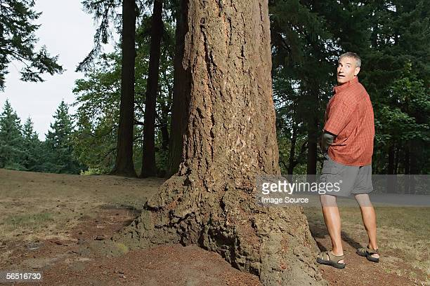 man caught urinating in the woods - urinating stock pictures, royalty-free photos & images