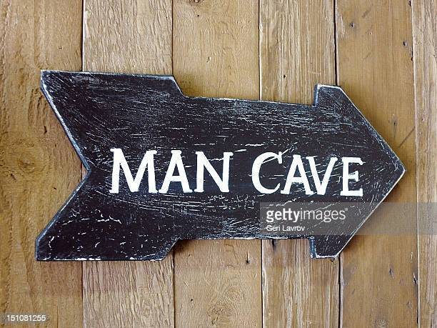 man cave sign - man cave stock photos and pictures