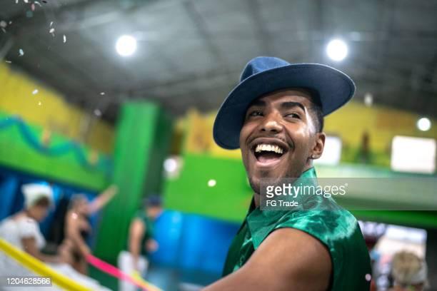 man (malandro) celebrating and dancing at brazilian carnival - samba stock pictures, royalty-free photos & images