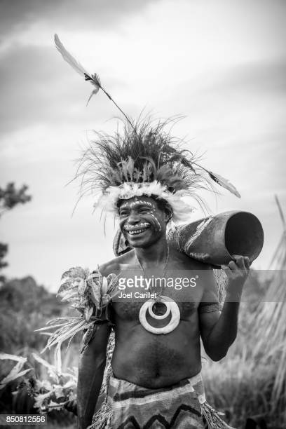 Man celebrating in Madang Province, Papua New Guinea