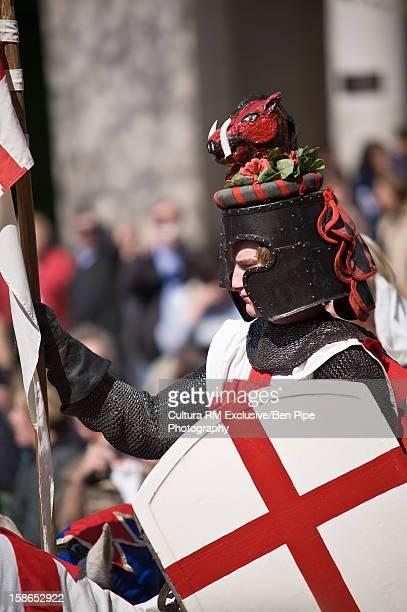 Man celebrating St. George's Day