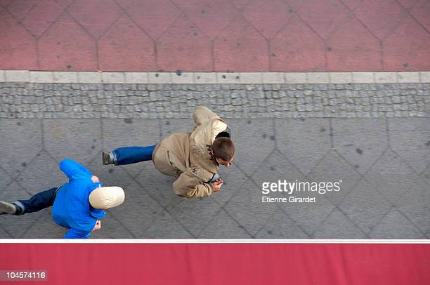 a man chasing his friend - 2010 2019 stock pictures, royalty-free photos & images