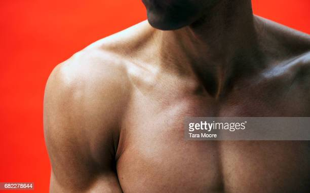 man chest - shoulder stock pictures, royalty-free photos & images