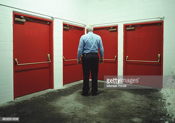 Man Choosing His Exit