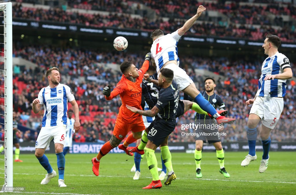 Manchester City v Brighton and Hove Albion - FA Cup Semi Final : News Photo