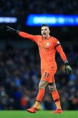 manchester england man city goalkeeper ederson