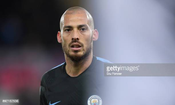 Man City player David Silva looks on during the Premier League match between Swansea City and Manchester City at Liberty Stadium on December 13 2017...
