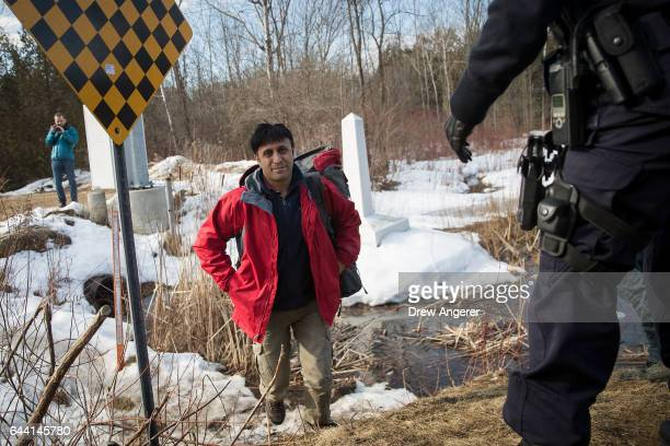 A man claiming to be from Turkey crosses the USCanada border into Canada February 23 2017 in Hemmingford Quebec Canada In the past month hundreds of...