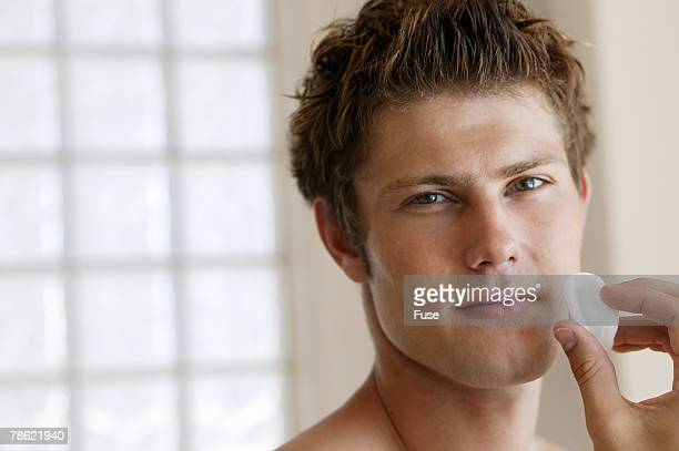 Man Cleaning Face