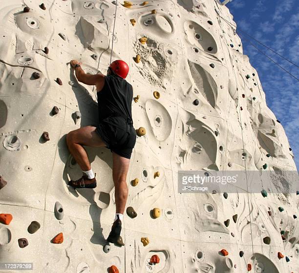 Mann Klettern Rock Wall