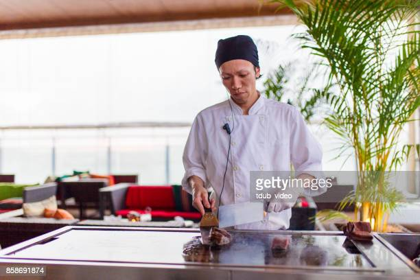 A man cooking at a restaurant