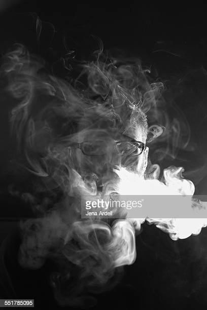 Man Covered By Smoke