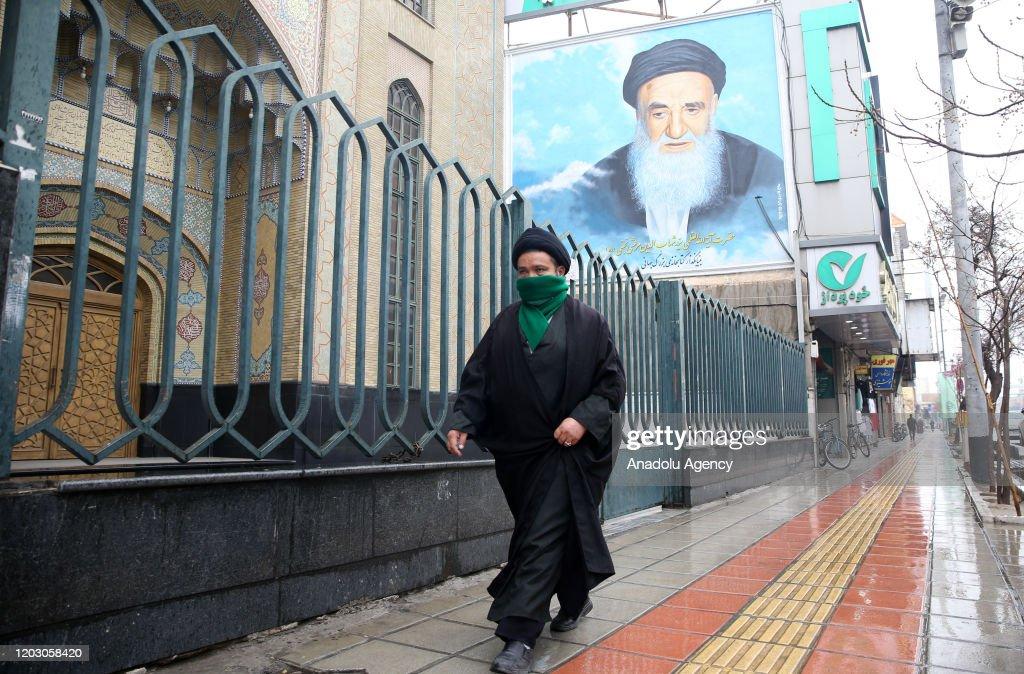 Coronavirus precautions in Iran's Qom : News Photo