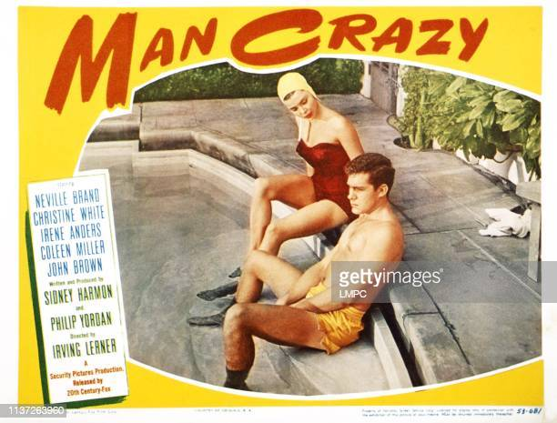 Man Crazy, US lobbycard, from left: Colleen Miller, Jack Larson, 1953.