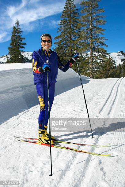 man cross-country skiing - nordic skiing event stock pictures, royalty-free photos & images