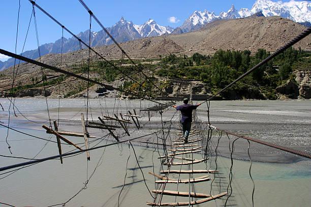 Hussaini bridge Hunza, Gilgit-Baltistan. top 10 places to visit in Hunza.