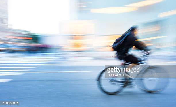 Man cycling in New York