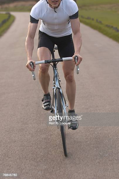Man cycling in park