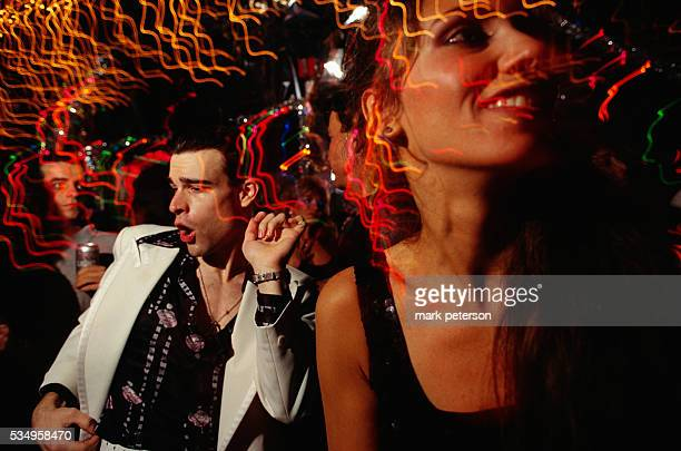 A man dances during the 20th anniversary of Saturday Night Fever at 2001 Odyssey the Brooklyn nightclub where the 1977 movie was filmed