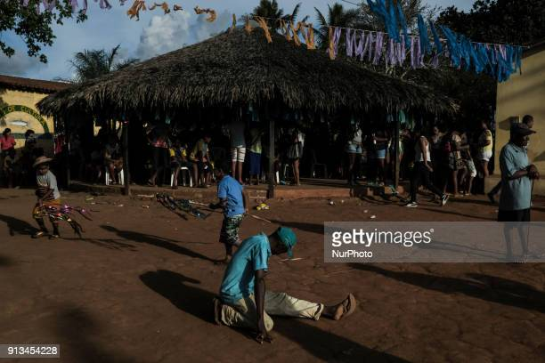 A man dances to the sound of Maracatu in the city of Nazaré da Mata in Northeast Brazil on January 14 2018